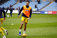 Wimbledon defender Will Nightingale (5) warming up  during the EFL Sky Bet League 1 match between Coventry City and AFC Wimbledon at the Ricoh Arena, Coventry, England on 12 January 2019.