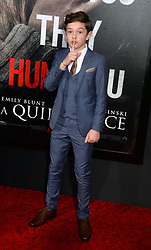 Noah Jupe attending the 'A Quiet Place' New York Premiere at AMC Lincoln Square Theater on April 2, 2018 in New York City, NY, USA. Photo by Dennis Van Tine/ABACAPRESS.COM