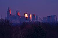 Philadelphia Skyline, Fairmount Park