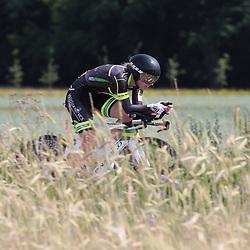 21-06-2017: Wielrennen: NK Tijdrijden: Montferlands-Heerenberg (NED) wielrennen  <br />Tijdrit Junior Vrouwen  <br />Britt Knaven (Strijbeek) pakt brons