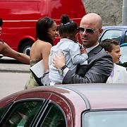 NLD/Amsterdam/20120721 - Huwelijk Berget Lewis en Sebastiaan van Rooijen, Edsilia Rombley en partner Tjeerd Oosterhuis en dochter Imaani