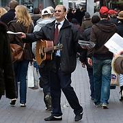 Nederland Rotterdam 15 maart 2008 20080315.straatevangelie op de lijnbaan in centrum Rotterdam ..Foto David Rozing