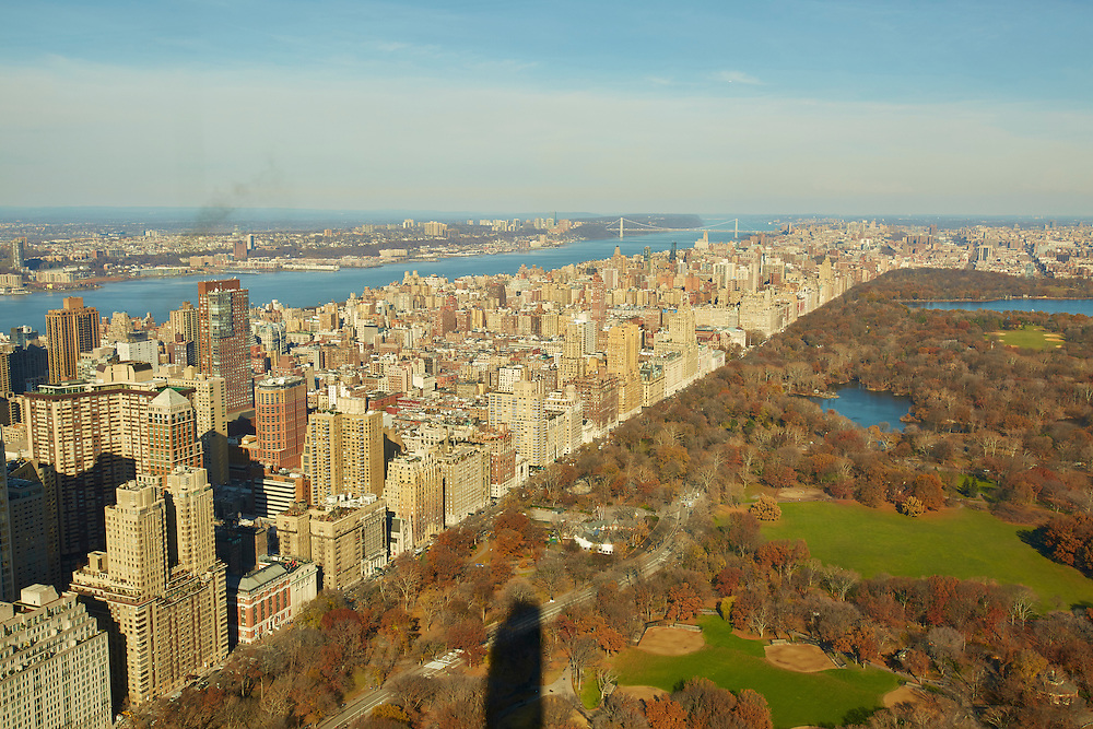 View of Central Park, Upper West Side and Hudson River from 157 West 57th Street, 81st floor