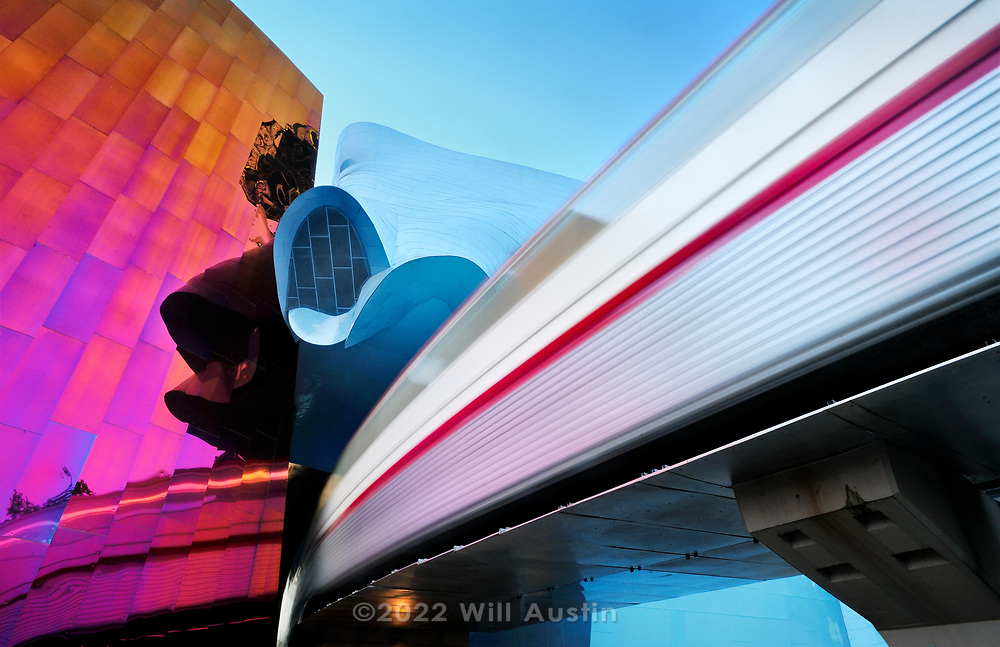 Monorail and EMP building in Seattle, WA.