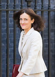 Downing Street, London, May 17th 2016. Northern Ireland Secretary Theresa Villiers arrives at the weekly cabinet meeting in Downing Street.