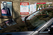 French Socialist party presidential candidate Benoît Hamon poster on 26th May, 2017, in Termes, Languedoc-Rousillon, south of France