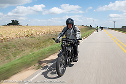 Richard Asprey riding his 1915 Norton in the Motorcycle Cannonball coast to coast vintage run. Stage 7 (274 miles) from Cedar Rapids to Spirit Lake, IA. Friday September 14, 2018. Photography ©2018 Michael Lichter.