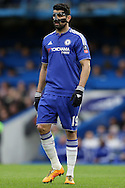 Diego Costa of Chelsea looks on. The Emirates FA Cup, 5th round match, Chelsea v Manchester city at Stamford Bridge in London on Sunday 21st Feb 2016.<br /> pic by John Patrick Fletcher, Andrew Orchard sports photography.