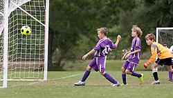 04 October 2015. Mandeville, Louisiana.<br /> New Orleans Jesters Youth Academy.<br /> U10 team purple take on Mandeville Black. Jesters emerge victorious.<br /> Photo©; Charlie Varley/varleypix.com