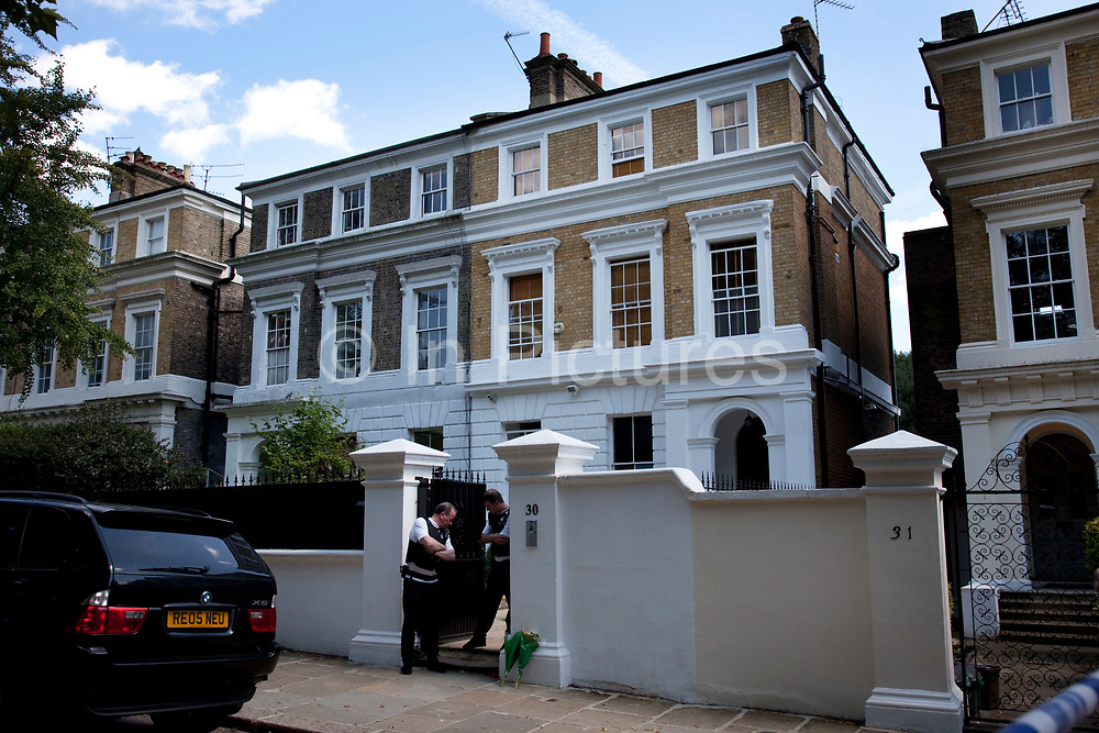 The home of Amy Winehouse, 30 Camden Square, North London. It was announced that the tragic singer had died on 23rd July 2011. The music world has been paying tribute to singer Amy Winehouse, 27, who was found dead at her London home following years of drug and alcohol abuse largely attributed to her troubled character and fame.