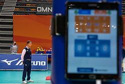 Referee during the CEV Eurovolley 2021 Qualifiers between Sweden and Netherlands at Topsporthall Omnisport on May 14, 2021 in Apeldoorn, Netherlands