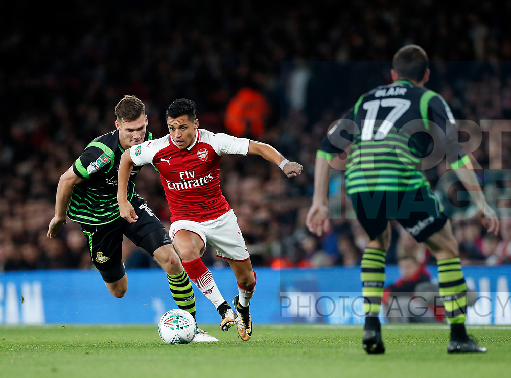 Arsenal's Alexis Sanchez in action during the Carabao cup match at the Emirates Stadium, London. Picture date 20th September 2017. Picture credit should read: David Klein/Sportimage
