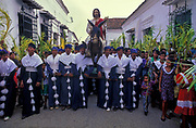 Jesus arrives on Palm Sunday in the Spanish Colonial town of Mompox, where Gabriel Garcia Marquez based his 100 years of Solitude setting of Macondo