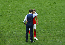 July 14, 2018 - Saint Petersburg, Russia - England v Belgium - Play off for third place final FIFA World Cup Russia 2018.England coach Gareth Southgate and Harry Kane (England) after the match at Saint Petersburg Stadium in Russia on July 13, 2018. (Credit Image: © Matteo Ciambelli/NurPhoto via ZUMA Press)