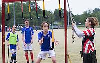 Amstelveen - NK LG Hockey KNHB in samenwerking met de Dirk Kuyt Foundation. .rechts Annemieke Schildmeijer van Bloemendaal . COPYRIGHT KOEN SUYK