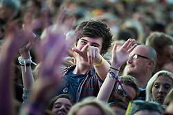© Licensed to London News Pictures . 07/06/2015 . Manchester , UK . Festival goer in the crowd at the Parklife 2015 music festival in Heaton Park , Manchester . Photo credit : Joel Goodman/LNP