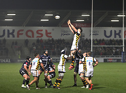 General view of a lineout - Mandatory by-line: Jack Phillips/JMP - 04/11/2016 - RUGBY - AJ Bell Stadium - Sale, England - Sale Sharks v Wasps - The Anglo-Welsh Cup