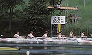 Lucerne, SWITZERLAND  GBR LW4- 1992 FISA World Cup Regatta, Lucerne. Lake Rotsee.  [Mandatory Credit: Peter Spurrier: Intersport Images] 1992 Lucerne International Regatta and World Cup, Switzerland