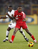 Fotball<br /> Afrika mesterskapet 2008<br /> Foto: DPPI/Digitalsport<br /> NORWAY ONLY<br /> <br /> FOOTBALL - AFRICAN CUP OF NATIONS 2008 - QUALIFYING ROUND - GROUP C - 22/01/2008 - SUDAN v ZAMBIA - MOHAMED BAKIT (SUD) / CLIVE HACHILENSA (ZAM)
