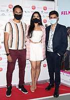 Abid Khan, Nisha Aaliya, Antonia Aakeel, Arriving for the screening of Granada Heights, UK Asian Film Festival, hosted at Rich Mix Shoreditch London photo by Terry Scott