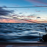 Leg 4, Melbourne to Hong Kong, day 12 on board MAPFRE, sunsets, but already in movement with the trade winds. Photo by Ugo Fonolla/Volvo Ocean Race. 13 January, 2018.