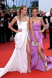 Toni Garrn (left) and Petra Nemcova attending A Hidden Life Premiere, during the 72nd Cannes Film Festival. Photo credit should read: Doug Peters/EMPICS
