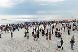 Daytona Beach just before the official start of stage 1 of the Motorcycle Cannonball Cross-Country Endurance Run, which on this day ran from Daytona Beach to Lake City, FL., USA. Friday, September 5, 2014.  Photography ©2014 Michael Lichter.