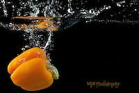Orange Bell pepper splash