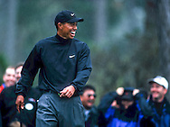 Tiger Woods laughs during a round at the AT&T.