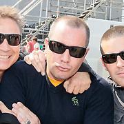 NLD/Amsterdam/20110430 - Koninginnedagconcert Radio 538, Armando Borsato, Jeroen Koningsbrugge en manager Machiel Hofman