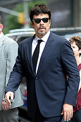June 18, 2018 - New York, NY, USA - June 18, 2018 New York City..Benicio Del Toro arriving to tape an appearance on 'The Late Show with Stephen Colbert' on June 18, 2018 in New York City. (Credit Image: © Kristin Callahan/Ace Pictures via ZUMA Press)