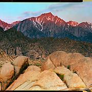 Sunrise, Alabama Hills, California. 4x5 Kodak Ektar 100. photo by Nathan Lambrecht