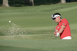 August 10, 2018 - Town And Country, Missouri, U.S - Y.E. YANG from Repulic of China hits out of the sand trap on hole number four during round two of the 100th PGA Championship on Friday, August 10, 2018, held at Bellerive Country Club in Town and Country, MO (Photo credit Richard Ulreich / ZUMA Press) (Credit Image: © Richard Ulreich via ZUMA Wire)