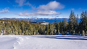 Lake Tahoe from Alpine Meadows ski area, Squaw Valley, California