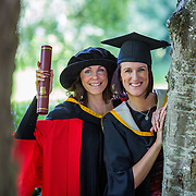 """25.08.2016          <br />  Faculty of Business, Kemmy Business School graduations at the University of Limerick today. <br /> <br /> Attending the conferring were sisters, Phd graduate, Dr. Leonie McMeel Lynch and her sister, Sharon McMeel, BA in Management Practice, Ballysheedy, Limerick. Picture: Alan Place.<br /> <br /> <br /> As the University of Limerick commences four days of conferring ceremonies which will see 2568 students graduate, including 50 PhD graduates, UL President, Professor Don Barry highlighted the continued demand for UL graduates by employers; """"Traditionally UL's Graduate Employment figures trend well above the national average. Despite the challenging environment, UL's graduate employment rate for 2015 primary degree-holders is now 14% higher than the HEA's most recently-available national average figure which is 58% for 2014"""". The survey of UL's 2015 graduates showed that 92% are either employed or pursuing further study."""" Picture: Alan Place"""