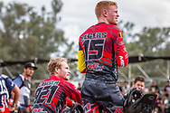 #921 (HARMSEN Joris) NED and #1 (KIMMANN Niek) NED5 at the 2016 UCI BMX Supercross World Cup in Santiago del Estero, Argentina
