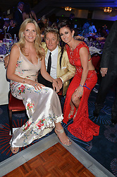 ROD STEWART and PENNY LANCASTER and TRUDI BESWICK at The Butterfly Ball in aid of Caudwell Children held at the Grosvenor House, Park Lane, London on 25th June 2015