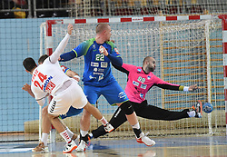 Layar Kukic of Serbia during friendly handball match between Slovenia and Srbija, on October 27th, 2019 in Športna dvorana Lukna, Maribor, Slovenia. Photo by Milos Vujinovic / Sportida