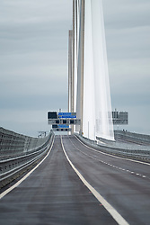 View of  an empty Queensferry Crossing Bridge on the official opening day on 4 September 2017.