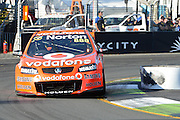 Team Vodafone's Craig Lowndes action during  Race 5 of the ITM 400 Hamilton,Hamilton Street Circuit, Day Two, Hamilton City ,V8 supercars,, Photo: Dion Mellow / photosport.co.nz