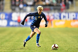 February 27, 2019 - Chester, PA, U.S. - CHESTER, PA - FEBRUARY 27: US Midfielder Megan Rapinoe (15) carries the ball in the second half during the She Believes Cup game between Japan and the United States on February 27, 2019 at Talen Energy Stadium in Chester, PA. (Photo by Kyle Ross/Icon Sportswire) (Credit Image: © Kyle Ross/Icon SMI via ZUMA Press)