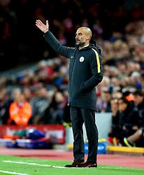 Manchester City manager Pep Guardiola gestures - Mandatory by-line: Matt McNulty/JMP - 31/12/2016 - FOOTBALL - Anfield - Liverpool, England - Liverpool v Manchester City - Premier League