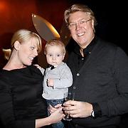 NLD/Amsterdam/20111207- Onthuling Playboy Stacey Rookhuizen, Robert Kranenborg met dochter Priscilla en kleinzoon Storm