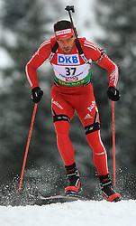 Simon Hallenbarter (SUI) at Men 20 km Individual at E.ON Ruhrgas IBU World Cup Biathlon in Hochfilzen (replacement Pokljuka), on December 18, 2008, in Hochfilzen, Austria. (Photo by Vid Ponikvar / Sportida)