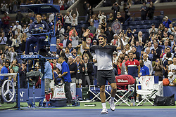 August 29, 2017 - New York, New York, USA - AUG 29, 2017: Roger Federer (SUI) during the 2017 U.S. Open Tennis Championships at the USTA Billie Jean King National Tennis Center in Flushing, Queens, New York, USA. (Credit Image: © David Lobel/EQ Images via ZUMA Press)