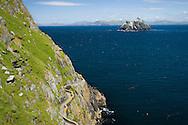 Skellig Michael (foreground), Little Skellig (background), County Kerry, Ireland