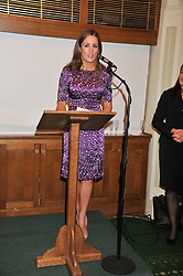 NATALIE PINKHAM at a reception for The Mirela Fund in partnership with Hope and Homes for Children hosted by Natalie Pinkham in The Churchill Room, House of Commons, London on 30th April 2013.
