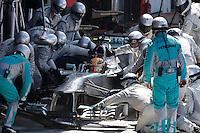 MOTORSPORT - F1 2013 - BRITISH GRAND PRIX - GRAND PRIX D'ANGLETERRE - SILVERSTONE (GBR) - 28 TO 30/06/2013 - PHOTO : FREDERIC LE FLOC'H / DPPI<br /> HAMILTON LEWIS (GBR) - MERCEDES GP MGP W04 - ACTION