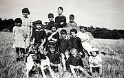 group portrait of children rural France