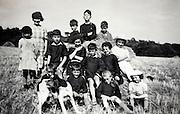 group portrait of children rural France
